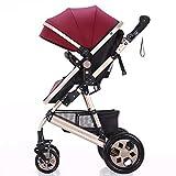 Reversible Sleep Basket Baby Pushchair High Landscape Luxury Baby Stroller for Newborn Baby Pram