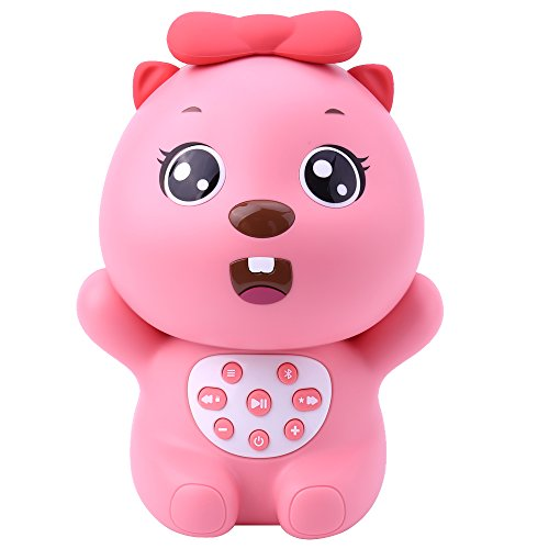 BEVA Wireless Kids Mp3 Music Player Cute Girls Beaver Noise Maker Machine Toy Cartoon Bluetooth Speaker, Perfect Birthday Christmas Gift for Baby Kids (Tile Beaver)