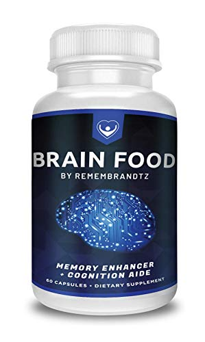 Brain Food by Remembrandtz -1 Month Supply- All-Natural Best Focus & Concentration Improvement Formula, with Bacopa Monierri, Vitamin E and Saffron Extract Improve Mental Performance. Review