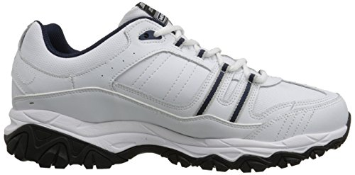 Skechers Sport Herren Afterburn Memory Foam Strike On Trainingsschuhe, Wei� / Navy