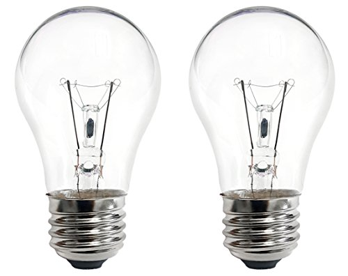 40 Watt Bulb for 16.3 and 17 Lava Lamps, 120 Volt, E26 (1-inch) Screw Base, Pack of 2