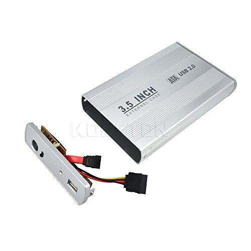Case Gabinete Sata De Aluminio Disco Duro 3.5 Computadora Plata