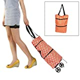 Lanscoe 24L Foldable Shopping Trolley Bag with