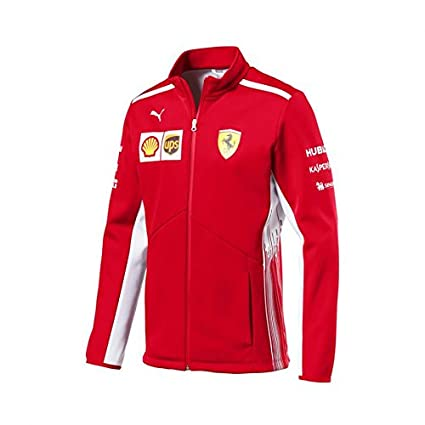 Ferrari Scuderia Formula 1 Mens Red 2018 Softshell Team Jacket w/Sponsors (2XL)