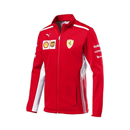 (Ferrari Scuderia Formula 1 Men's Red 2018 Softshell Team Jacket w/Sponsors (2XL))