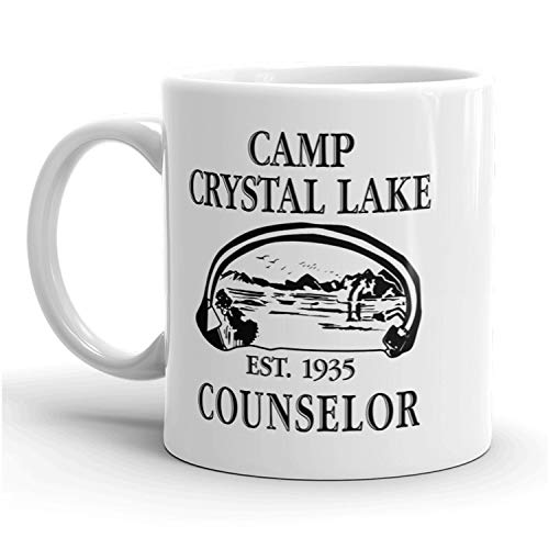Camp Crystal Lake Counselor Mug Funny Halloween Movie Coffee Cup - 11oz]()