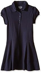 Nautica Big Girls\' Uniform Polo Dress, Navy, 7