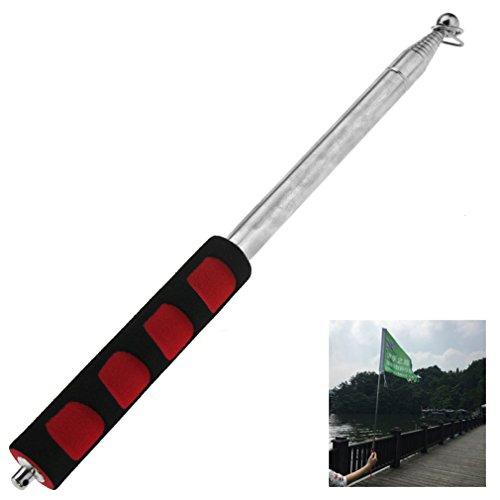 (SING F LTD Portable Extendable Handheld Windsock Telescopic Flag Pole Ferula Pointer 2M)