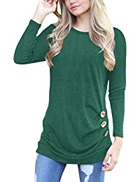 Women's Long Sleeve Round Neck Casual T-Shirt Tunic Tops...