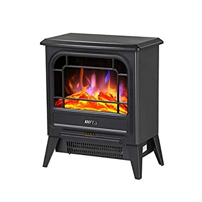 Air Conditioners CJC 1800W Freestanding Fires Modern Fireplace Portable Stove Realistic Flame Real Logs Burning Effect