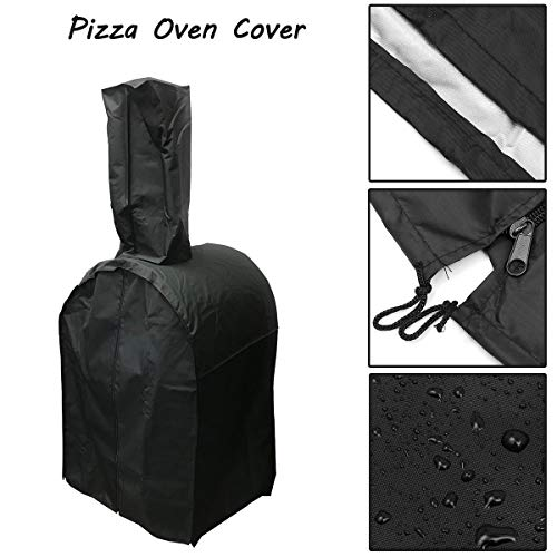 (TOYECOTA - 65x54x75cm Protective Cover for Sams Club Members Mark WoodFired Oven Charcoal-Fired Bread Oven Smoker BBQ Rain Cover waterproof)
