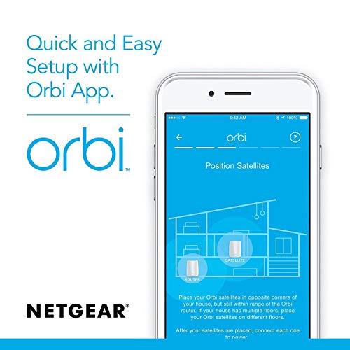 NETGEAR Orbi Wall-Plug Whole Home Mesh WiFi System - WiFi
