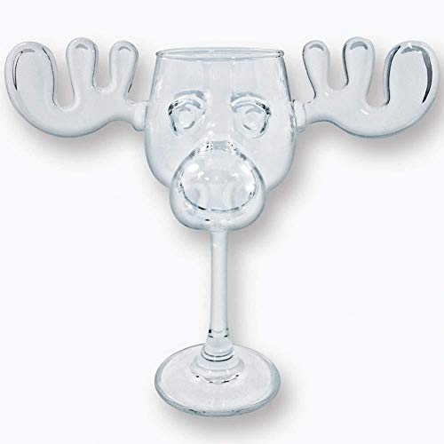 Christmas Vacation Moose Mug Wine Glass - ST