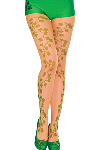 [Secret Wishes Women's DC Comics Poison Ivy Panty Hose, Multi, One Size] (Wood Fairy Costumes)