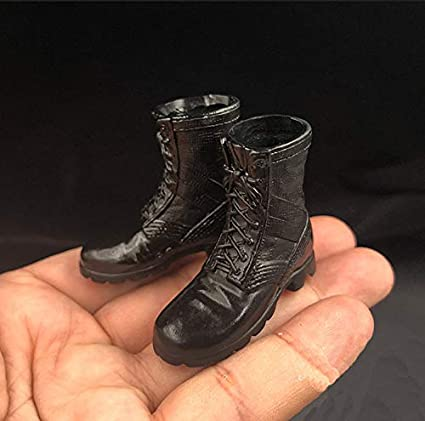"1//6 Scale Soldier Combat Boots Army Shoes for 12/"" Figure Soldier Story Black"