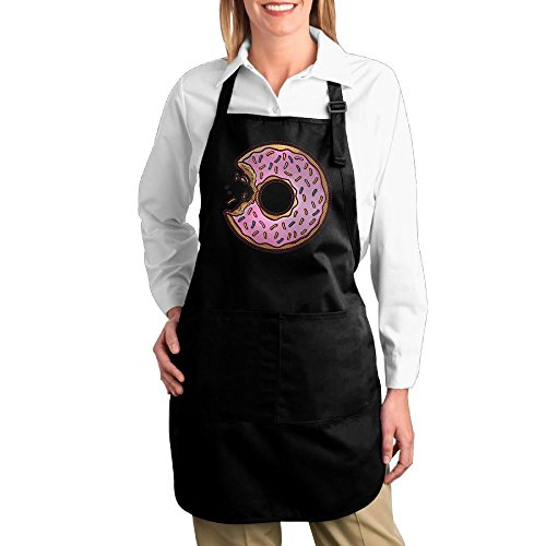 Joapron Sweet Donuts Custom Pinafore For Galley Black Size One - Hut Pizza Delivery Ipswich