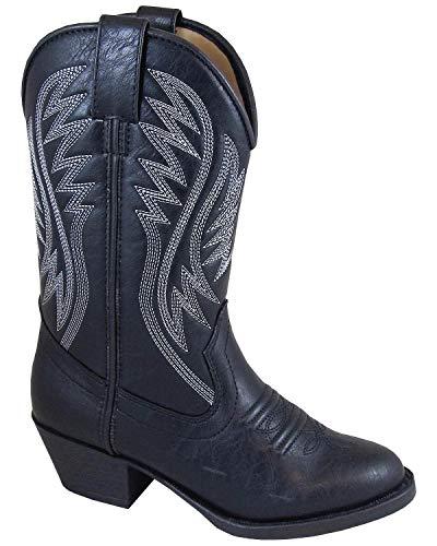 Smoky Mountain Girls' Mesquite Western Boot Round Toe Black 2.5 D
