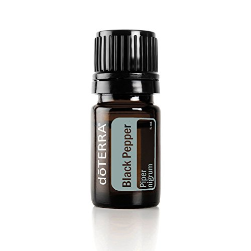 doTERRA - Black Pepper Essential Oil - Provides Antioxidant Support, Supports Healthy Circulation, Aids Digestion, Soothes Anxious Feelings; For Diffusion, Internal, or Topical Use - 5 ml