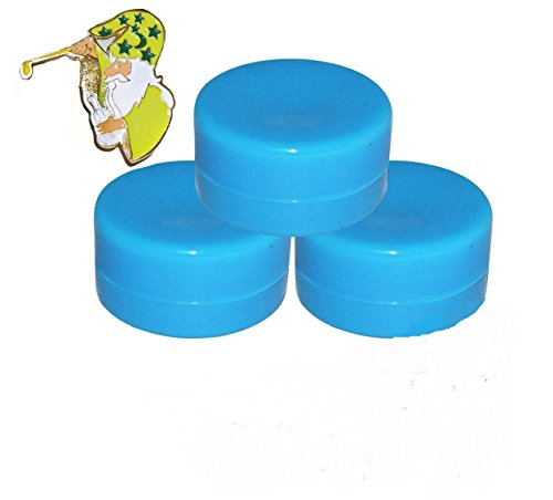 (25) Blue Wax Shatter Silicone Non Stick Jar Container for Oil Crumble Honey (Vaporizer Pen Wax)