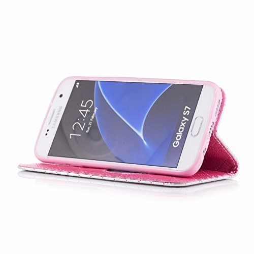 Gris Diseño S7 Yiizy Billetera Carcasa Protector Piel Cover Galaxy G930 de Cáscara Estuches Funda Amar Color Tarjetas Ranura Pu Estilo Para G930fd G930f Samsung Cuero qCCSr8