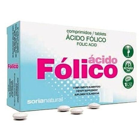 Soria Natural Acido Fólico Retard - 48 Cápsulas: Amazon.es: Salud y cuidado personal