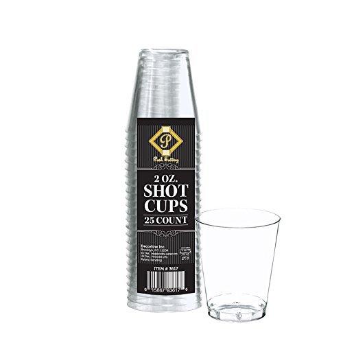 Posh Setting 2oz Clear Hard Plastic Shot Glasses 200 (Cheap Shot Glasses Personalized)