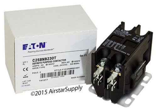 Siemens 45EG20AJ - Replaced by Eaton / Cutler Hammer C25BNB230T Contactor , 2-Pole , 30 Amp , 24 VAC Coil Voltage by Eaton Cutler-Hammer (Image #1)