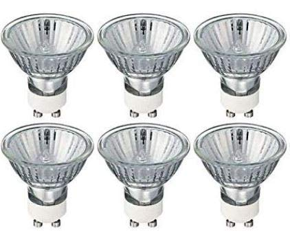 6X GU10 Halogen spotlights, Replacement Bulbs, dimmable, Warm White 40w Homebase