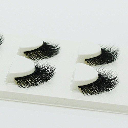 3 PCS Naturel incroyable 3D stéréo multicouche faux cils pur artisanal cils (3 paires) 3D-34