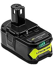 Hochstern 18V 5500Ah ersättningsbatteri för Ryobi One + P108 RB18L40 RB18L50 RB18L25 RB18L15 RB18L13 P108 P107 P122 P104 P105 P102 P103 för Ryobi Batterier 18V