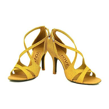 ... XIAMUO Anpassbare Frauen Beruf Tanz Schuhe, Golden, US 6 / EU 36/UK4 ...