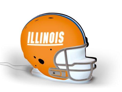 NCAA Illinois Fighting Illini LED-Lit Football Helmet