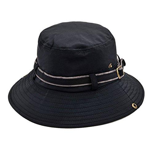 IL Caldo Unisex Summer Casual Cap Fishing Bucket Hat Sun Visor Cap Foldable Outdoor Caps,Black - Mens Hat Beret With Brim