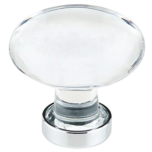 Emtek Products Crystal Knob - Emtek 86401US26 Hampton 1.25-Inch Cab Knob