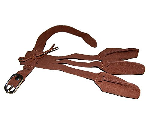 Toparchery Leather 2 Straps Arm Guard & 3 Finger Protective Gloves for Recurve Compound Long Bow Hunting Shooting Brown by Toparchery (Image #4)
