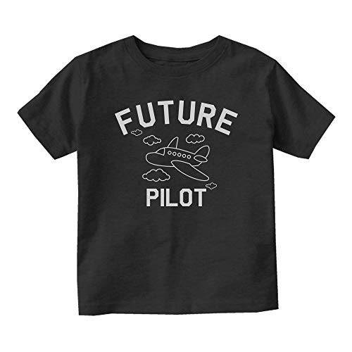 Aviator Future Pilot Baby Toddler T-Shirt Tee Black 12M