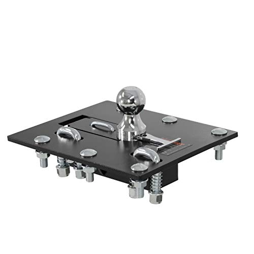 Gooseneck Hitch Ball - CURT 61052 Over- Black 2-5/16-Inch Bed Folding Gooseneck Hitch (30,000 lbs. GTW, 2-5/16