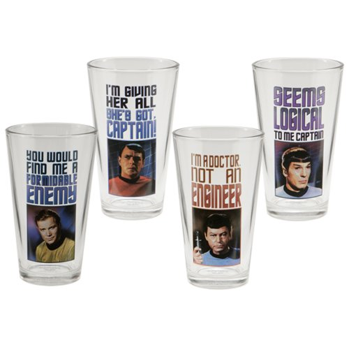 Star Trek 16-Ounce 4 Glass Set