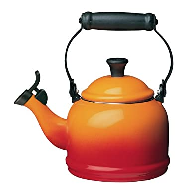 Le Creuset Enamel-on-Steel Demi 1-1/4-Quart Teakettle, Flame