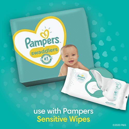 41D36DDtJpL. AC Baby Diapers Newborn/Size 1 (8-14 lb), 198 Count - Pampers Swaddlers, ONE MONTH SUPPLY (Packaging and Prints on Diapers May Vary)    Wrap your baby in our softest comfort with Pampers Swaddlers diapers. Designed to keep skin dry and healthy, Pampers Swaddlers are the only diapers with a BreatheFree Liner that wicks away wetness and mess, allowing your baby's skin to breathe. Specially designed with your baby's comfort in mind, our Soft Flexi-Sides provide a soft cushiony stretch for a secure and comfortable fit. Plus, our Pampers Wetness Indicator lets you know when your baby might need a change, to help keep baby's skin dry and healthy. For protection that's gentle on your baby's skin, Pampers Swaddlers is hypoallergenic and free of parabens and latex.* And when your baby is new to the world, our Umbilical Cord Notch** provides a perfectly contoured fit that protects their delicate belly. That's why Pampers Swaddlers are the #1 Choice of U.S. Hospitals, Nurses and Parents†. For trusted protection, trust Pampers, the #1 U.S. Pediatrician Recommended Brand. *Natural rubber. **Sizes N–2. †Hospitals: based on hospital sales data; nurses: vs. other hospital brands, among those with a preference; parents: based on retail sales.
