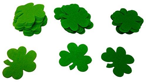 Large Saint Patrick's Day Green Shamrock Felt Confetti (Pack of 36, Size: 1.5