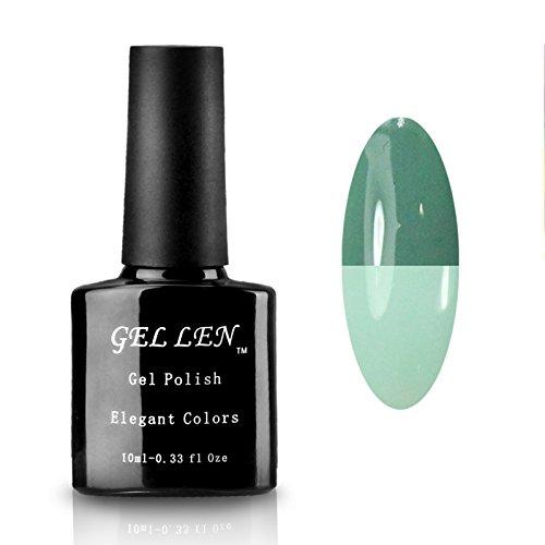 Gellen Shiny Temperature Color Changing Soak Off UV LED Gel Nail Polish 1Pc 10ml Each Group #05