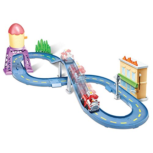 Paw Patrol Roll Patrol - Marshall's Town Rescue Track Set with Exclusive Motorized Vehicle with Lights and Sounds