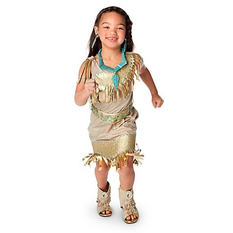 Disney Store Pocahontas Indian Princess Toddler Costume Size XXS [ 2 / 3 ] for 1 - 3 years old