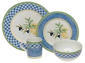 Royal Doulton Carmina Gingham 4-Piece Dinnerware Place Setting, Service for 1