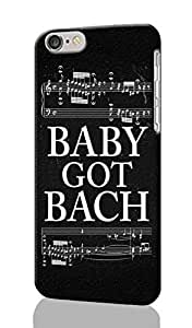 Baby Got Bach Pattern Image - Protective 3d Rough Case Cover - Hard Plastic 3D Case - For iPhone 6 - 4.7