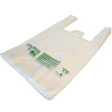 Lote de 100 bolsas biodegradables y compostables 45 x 26 cm ...