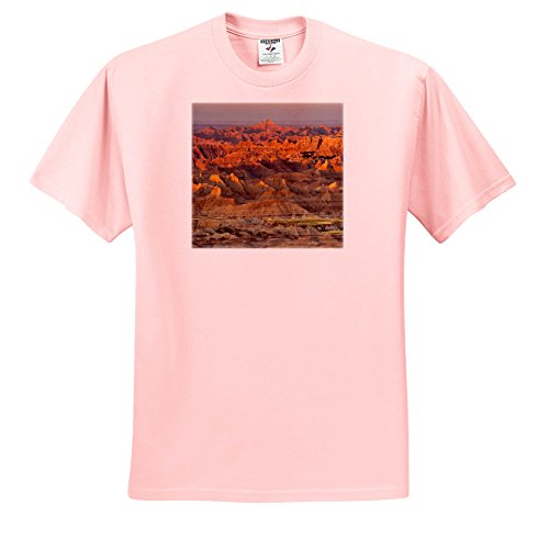 3dRose Danita Delimont - Deserts - Sunrise, Pinnacles Overlook, Badlands National Park, South Dakota, USA - T-Shirts - Youth Light-Pink-T-Shirt Med(10-12) (South Park Juniors T-shirts)