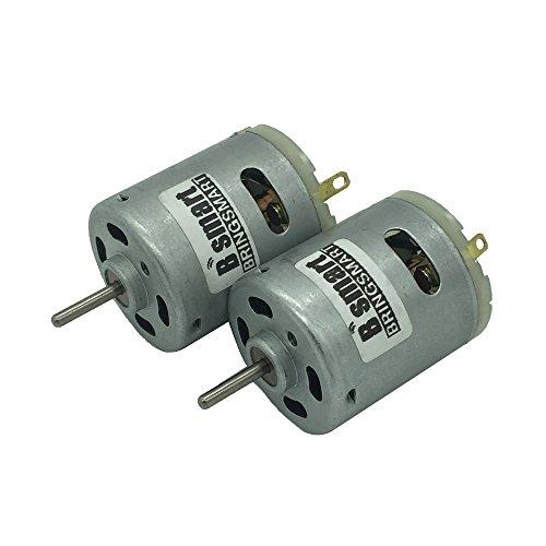 Bringsmart 2pcs DC Motor 18V High-speed Electric Machine Hair Dryer Motor (RS365 18V 19400rpm)