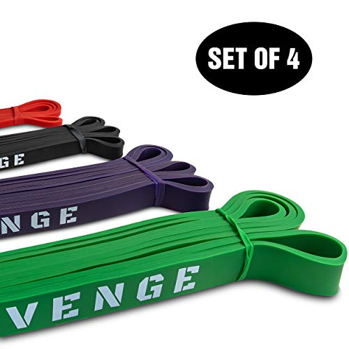 VENGE Performance Functional Fitness Bands Set of 4, Exercise Band Set, Mobility Bands Set for Strength Training and Rehab + Free Carry Bag by VENGE Performance (Image #7)